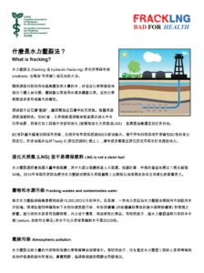 Fracking factsheet - chinese traditional