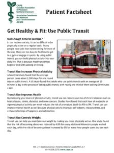 Get Healthy and Fit: Use Public Transit