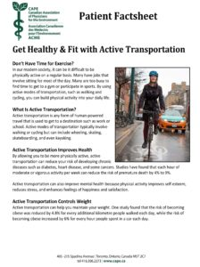 Get Healthy and Fit with Active Transportation