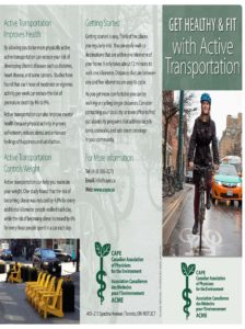 Patient Brochure - Get Healthy & Fit with Active Transportation