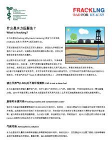 Fracking factsheet - Chinese (Simplified)