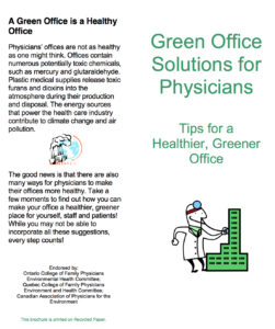 Green Office Solutions for Physicians - Tips for a healthier, greener office