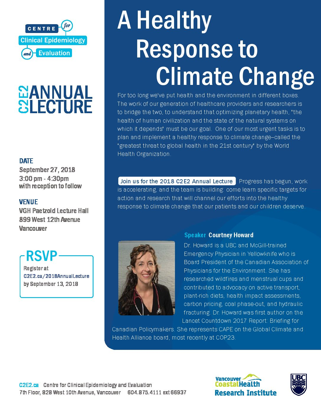 C2E2 2018 ANNUAL LECTURE – A HEALTHY RESPONSE TO CLIMATE CHANGE