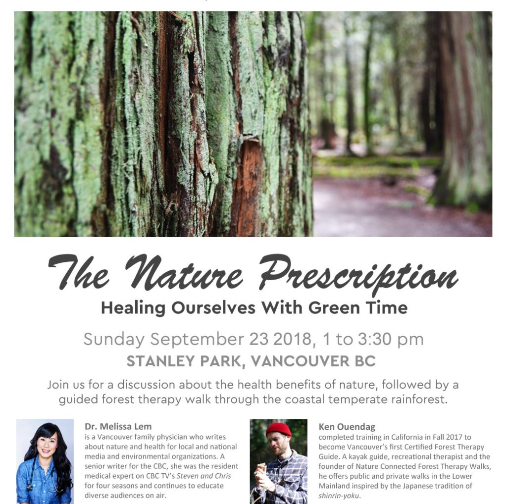 The nature prescription poster - healing ourselves with green time by Doctor Melissa Lem