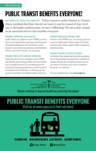 Public transit benefits everyone poster