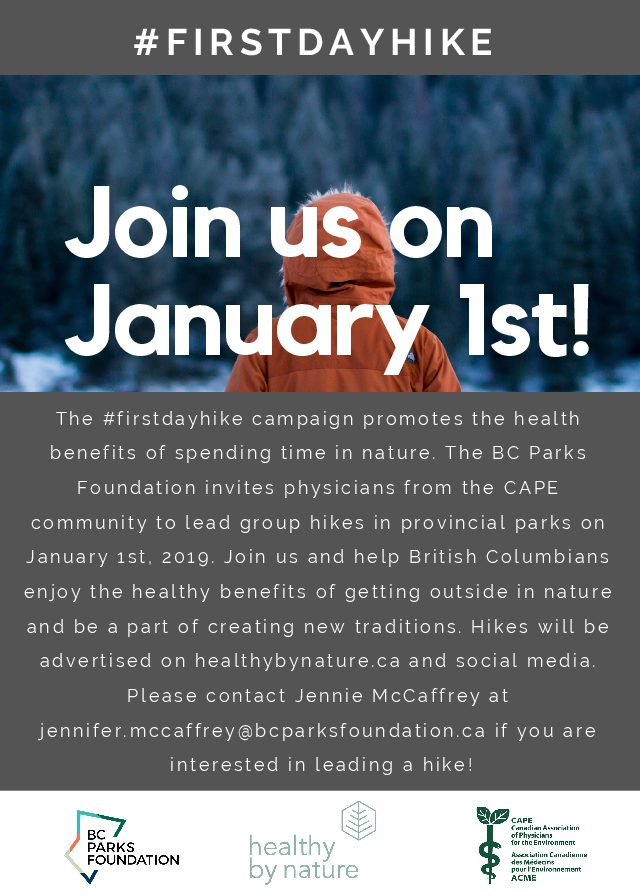#FirstDayHike in B.C. on January 1st, 2019!