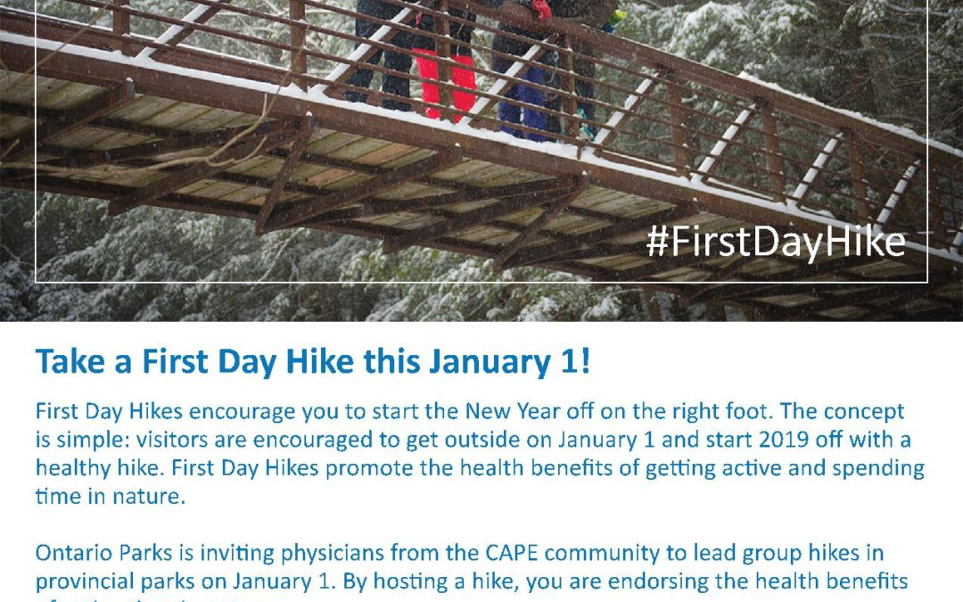 #FirstDayHike in Ontario on January 1st, 2019!