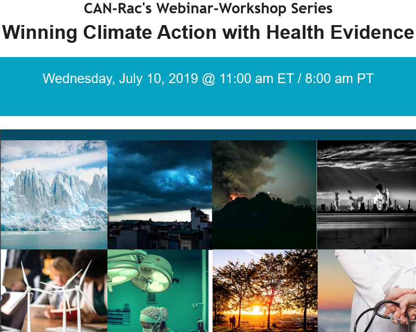CAN-Rac's Webinar: Winning Climate Action with Health Evidence